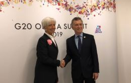 Macri and minister Dujovne addressed the current economic situation and prospects with Ms Lagarde and Mr Lipton