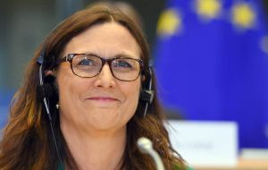 Commissioner for Trade Cecilia Malmström said once the accord is in place, it will  create a market of 780 million people, providing enormous opportunities