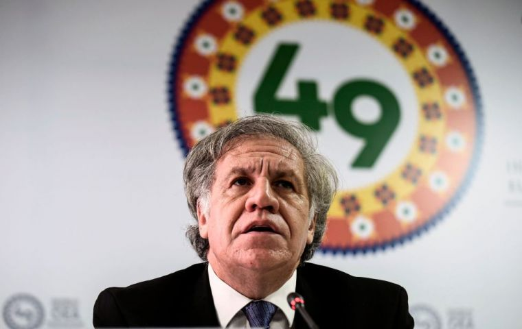 OAS Secretary Luis Almagro had said the group would seek to ramp up pressure on Maduro during this week's session in Medellin, and even debate sanctions