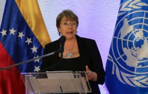 "UN rights chief Michelle Bachelet said earlier she was ""shocked"" by the death of retired officer Rafael Acosta Arevalo"