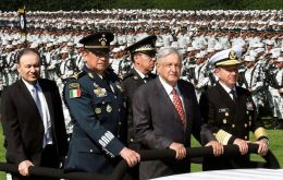 Lopez Obrador is launching the new National Guard security force in a bid to fight violent crime fueled by drug trafficking and also curb chronic police corruption