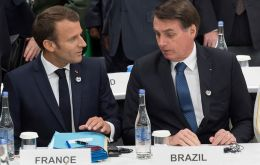 Bolsonaro comments came two days after President Macron threatened to boycott a EU/Mercosur deal if Brazil abandoned the Paris climate accord