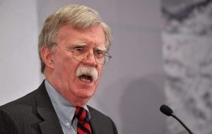 """Excellent news: UK has detained the supertanker Grace I laden with Iranian oil bound for Syria in violation of EU sanctions,"" Bolton tweeted."