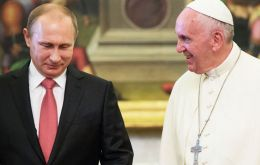 Pope Francis and Pte. Putin met nearly an hour of closed-door talks.