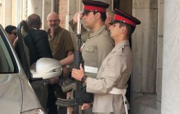 Nigel Phillips is received by his Gibraltar peer