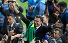 Bolsonaro attended the tournament opener and the team's July 2 match against arch-rival Argentina alongside Economy Minister Paulo Guedes