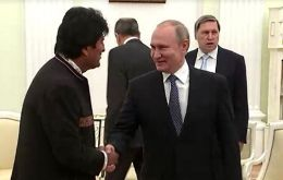 "Morales declared himself ""very much an admirer"" of Putin."
