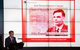 """Turing is a giant on whose shoulders so many now stand,"" Bank of England Governor Mark Carney said."