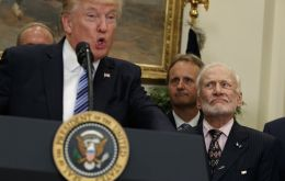 """Actually, I've been a little disappointed over the last 10 or 15 years,"" Aldrin told Trump on Friday"