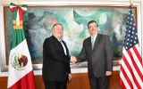 Pompeo met on Sunday in Mexico City with Foreign Secretary Marcelo Luis Ebrard during a regional trip that began in Argentina and Ecuador