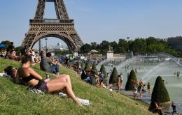 As records tumbled in Belgium, the Netherlands and Germany, Paris beat the previous top of 40.4 degrees Celsius set in July 1947.
