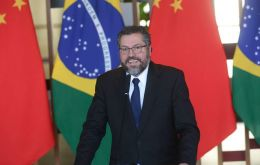 """We never had an any issue with China. We had an issue with how Brazil itself was organizing, or not organizing, its relationship with Chin"" said minister Araujo."