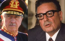 "Pinochet (L) and Allende (R) ""were both part of our history,"" Piñera elaborated."