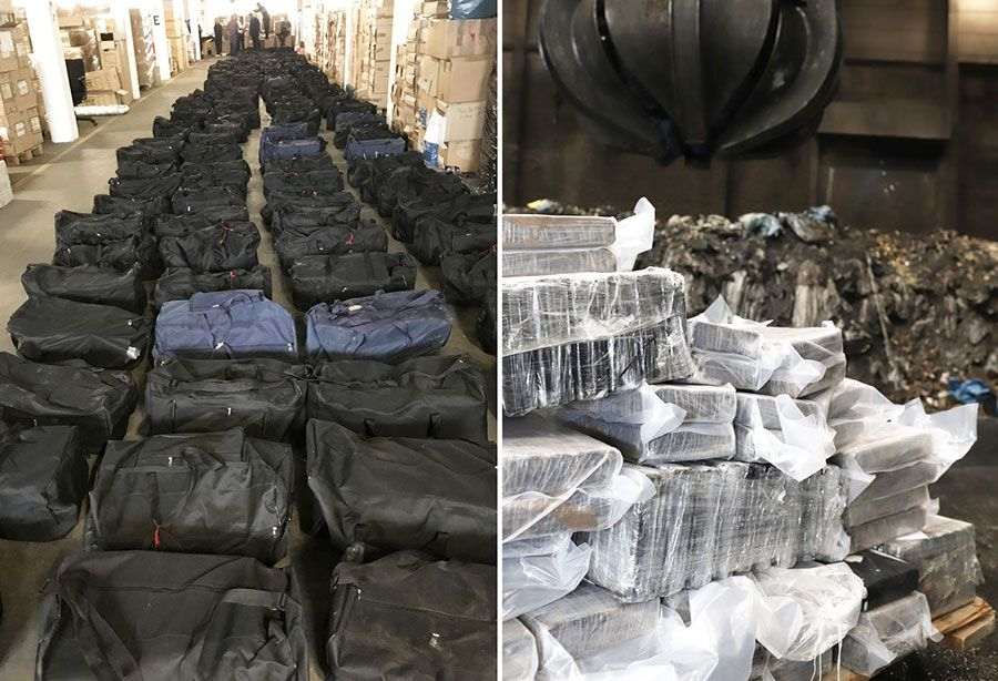 Largest cocaine bust in Germany, 4 500 kilos, was shipped from