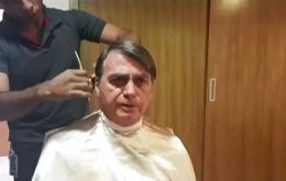 Bolsonaro is a notorious skeptic of climate change and his haircut was broadcast.