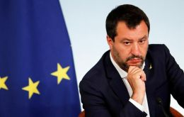 Under Salvini's hard-line stance as interior minister, the populist government clashed with most of its EU partners when it closed Italian ports to refugees.