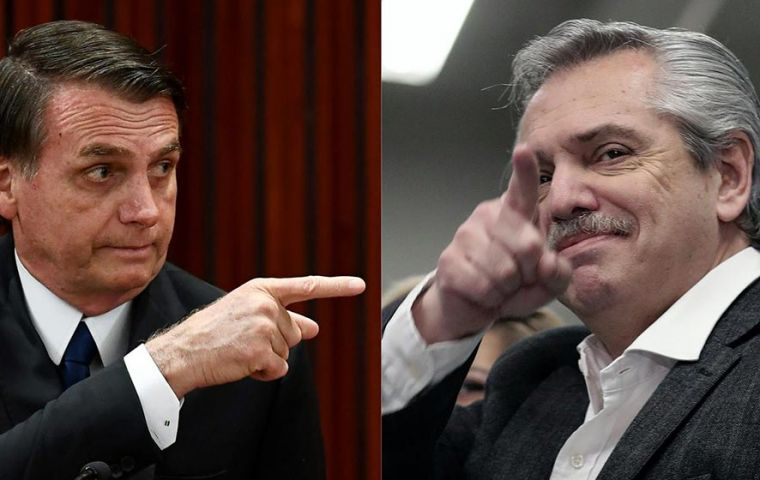 "Argentina was heading for chaos as ""leftist bandits"" who performed well in the primary election will follow the path of Venezuela, claimed Bolsonaro (Pic AFP)"