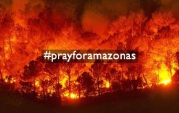 #PrayforAmazonas is the top trending hashtag in the world on Wednesday, with more than 249,000 tweets.