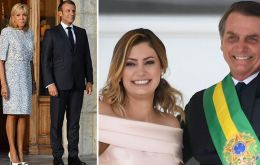 Bolsonaro responded on Sunday to a Facebook post that compared the looks of his wife Michelle, 37, with Macron's 66-year-old wife Brigitte.