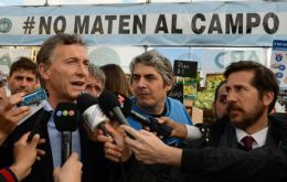 """We were going to be at about 1.8% inflation. It's now going to be 3-something in August,"" Macri announced to a group of farmers"