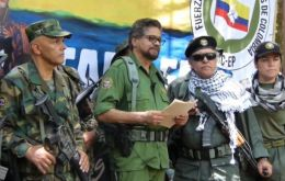 """We are announcing to the world that the second Marquetalia has begun,"" Ivan Marquez, dressed in military fatigues, said in a video posted on YouTube"
