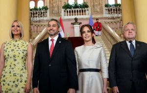 "Abdo Benítez said in his welcoming message that Paraguay and the United States ""have a historical friendship; we share values of democracy and institutionalism."""