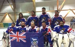 The Falkland Islands team drubbed Puerto Rico 6-2 in the final. They went 2-0 in group play and edged Mexico 3-2 in overtime in the semifinal.