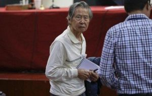 "He said Fujimori was undergoing tests after ""suffering atrial fibrillation"" or an irregular heartbeat, as well as from ""pancreatic cysts."" Aguinaga said it was Fujimori's third hospitalization ""in the"
