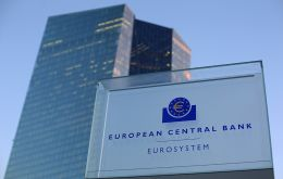 ECB said in Frankfurt it would cut its deposit rate by 10 basis points, to -0.5% from -0.4%, and purchase 20bn Euros' of bonds a month starting in November.