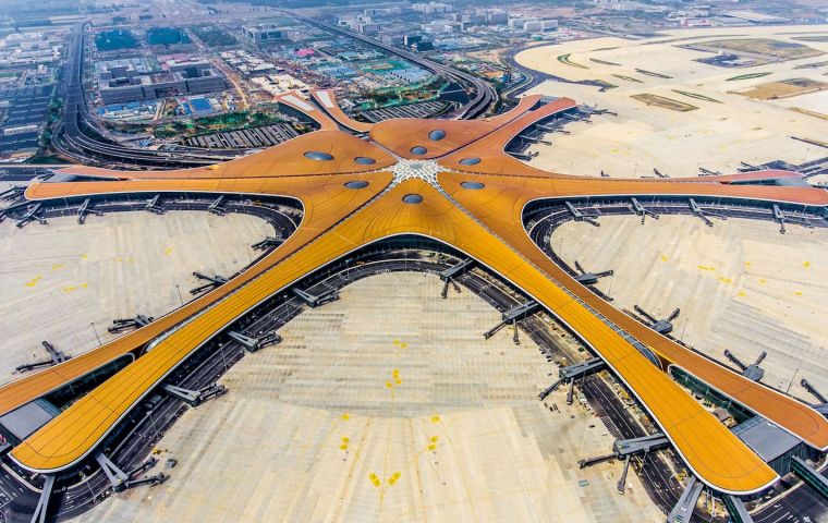 The Daxing International sea star shaped airport in the capital Beijing was formally opened by President Xi Jinping and is the largest in the world