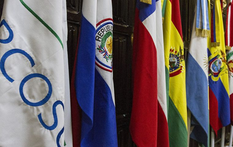 Seoul's exports to Mercosur four member countries reached US$5.6 billion in 2018, down 13.7%, according to Korea International Trade Association.