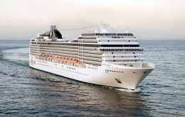 """We will be receiving for the first time the visit of MSC Magnifica, which is on a round the world cruise and will spend a night in Ushuaia"", said Nestor González"