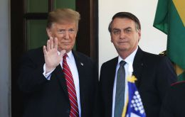 "Trump said a joint statement released with Bolsonaro in March ""makes absolutely clear I support Brazil beginning the process for full OECD membership."""