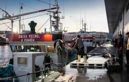 Vigo, the main hub for trading Falklands' fishing industry produce