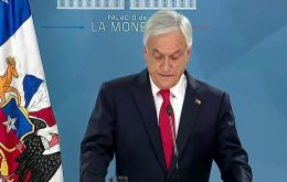 Piñera asked for forgiveness for successive governments on both left and right that failed to act sooner to stem deep inequalities in the country