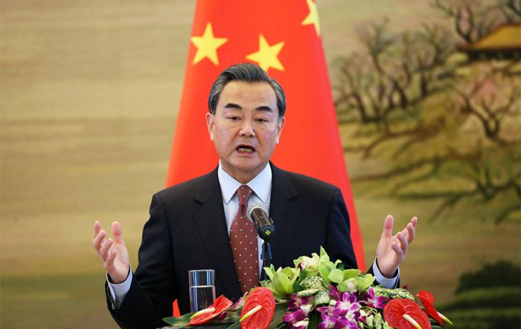 """We see violence today in Hong Kong being reproduced in other places,"" Chinese Foreign Minister Wang Yi said, citing the clashes in Catalonia and Chile"