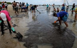 Oil has been washing up on the shores of northeastern Brazil for two months, but its origin has remained a mystery so far