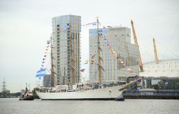 A truly moving scene to see the ARA Libertad sail in all her majesty up the Thames, said ambassador Carlos Sersale