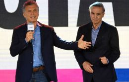 """I want to congratulate president elect Alberto Fernandez with whom I have just talked"", said Macri from his reelection campaign headquarters"