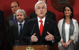 """Chile has changed and the government too has to change to confront these new challenges in these new times,"" said Piñera"
