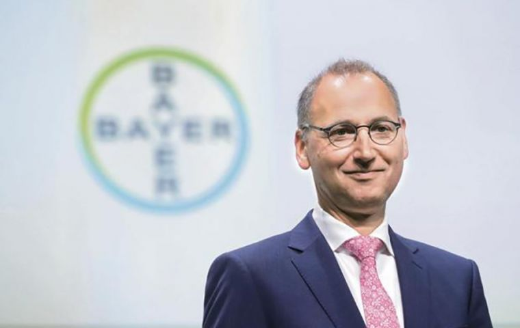 """There is extremely strong support among farmers, who are imploring us to keep this crop chemical on the market,"" CEO Werner Baumann told journalists"