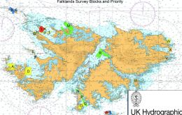 Data from these surveys will initially be used to update nautical charts to support safe and efficient navigation for ships using the Falkland Islands waters. Image: UK Hydrographic Office