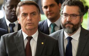"Bolsonaro called Alberto Fernandez a ""red bandit"" and said voters had made a mistake by electing him."