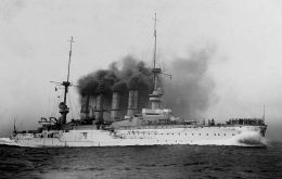 The Scharnhorst, built in Hamburg in 1905, was the first to be sunk, having sustained substantial damage inflicted by HMS Invincible and HMS Inflexible