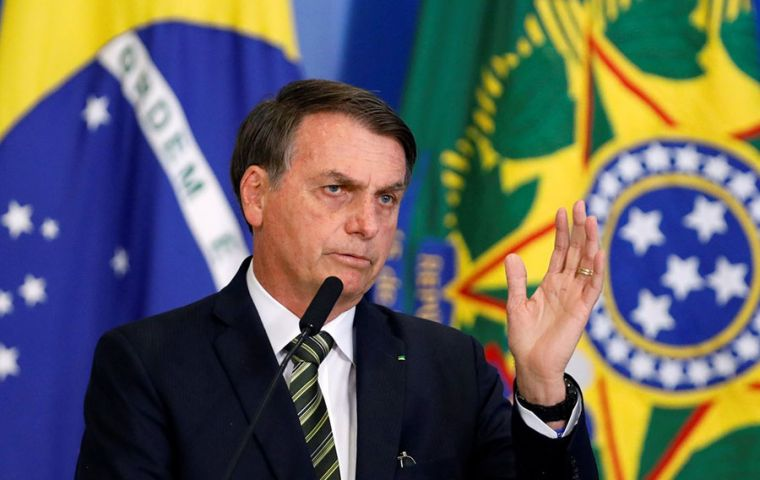 Bolsonaro said Mercosur had a key role to play in Brazil's efforts to open its economy to international trade and improve the business environment for investors