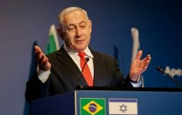 "Netanyahu issued a statement saying Eduardo Bolsonaro told him they had ""committed to moving Brazil's embassy to Jerusalem in 2020""."