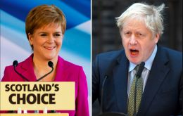 Johnson and his government have repeatedly said they will not give the go-ahead for another referendum on Scottish independence