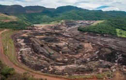The dam is located near the town of Brumadinho, where a Vale tailings dam burst in January, killing hundreds