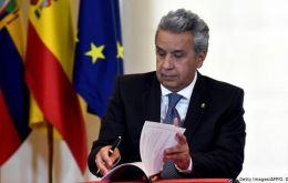 President Moreno is struggling with an economic crisis that he blames on waste and corruption by his predecessor's administration