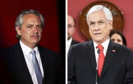 Despite the comments, president Alberto Fernández said he has a good relation with Sebastián Piñera